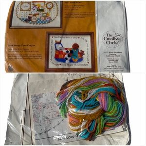 Vintage 80's The Creative Circle Embroidery Kit